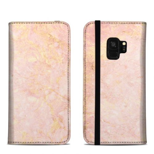 Rose Gold Marble Samsung Galaxy S9 Folio Case