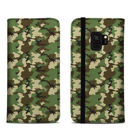 Woodland Camo Samsung Galaxy S9 Folio Case