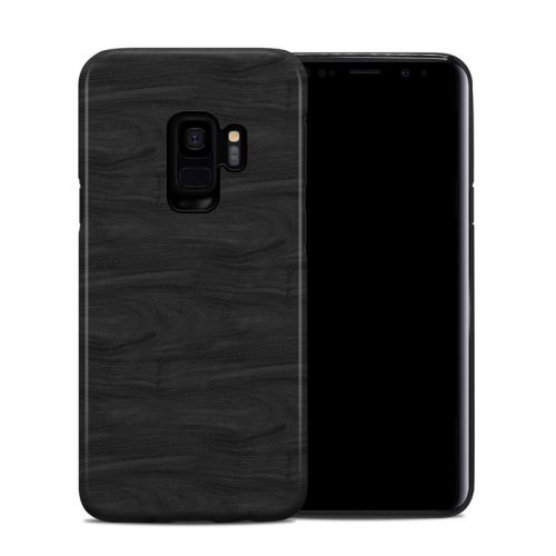 Black Woodgrain Samsung Galaxy S9 Hybrid Case