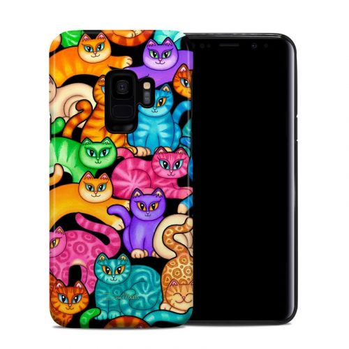 Colorful Kittens Samsung Galaxy S9 Hybrid Case