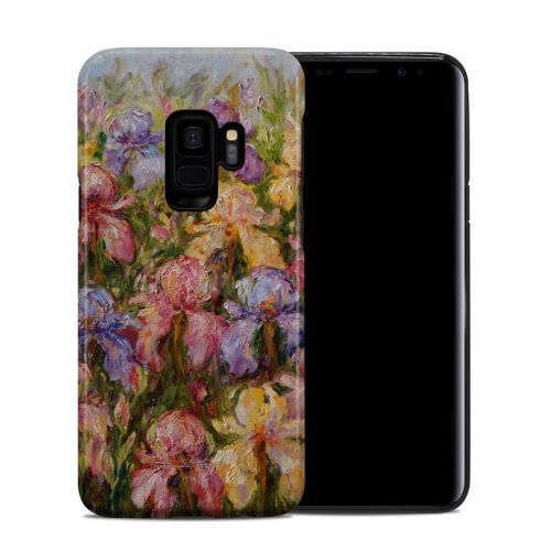 Field Of Irises Samsung Galaxy S9 Hybrid Case