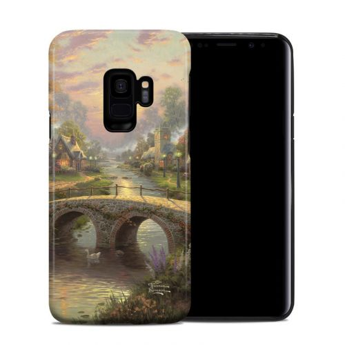 Sunset On Lamplight Lane Samsung Galaxy S9 Hybrid Case
