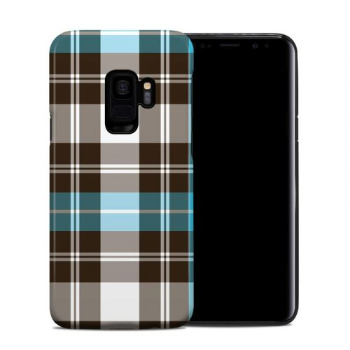 Turquoise Plaid Samsung Galaxy S9 Hybrid Case