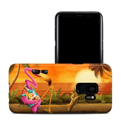 Sunset Flamingo Samsung Galaxy S9 Hybrid Case