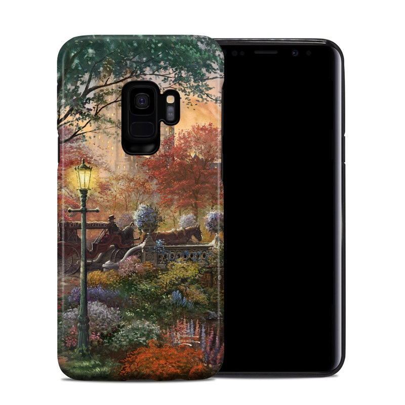 Samsung Galaxy S9 Hybrid Case design of Painting, Nature, Watercolor paint, Natural landscape, Art, Bank, Landscape, Acrylic paint, Waterway, Sky with red, green, yellow, orange, gray, blue colors