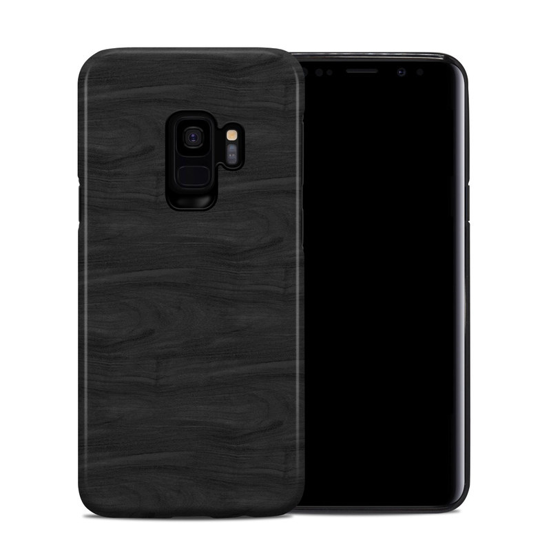 Samsung Galaxy S9 Hybrid Case design of Black, Brown, Wood, Grey, Flooring, Floor, Laminate flooring, Wood flooring with black colors