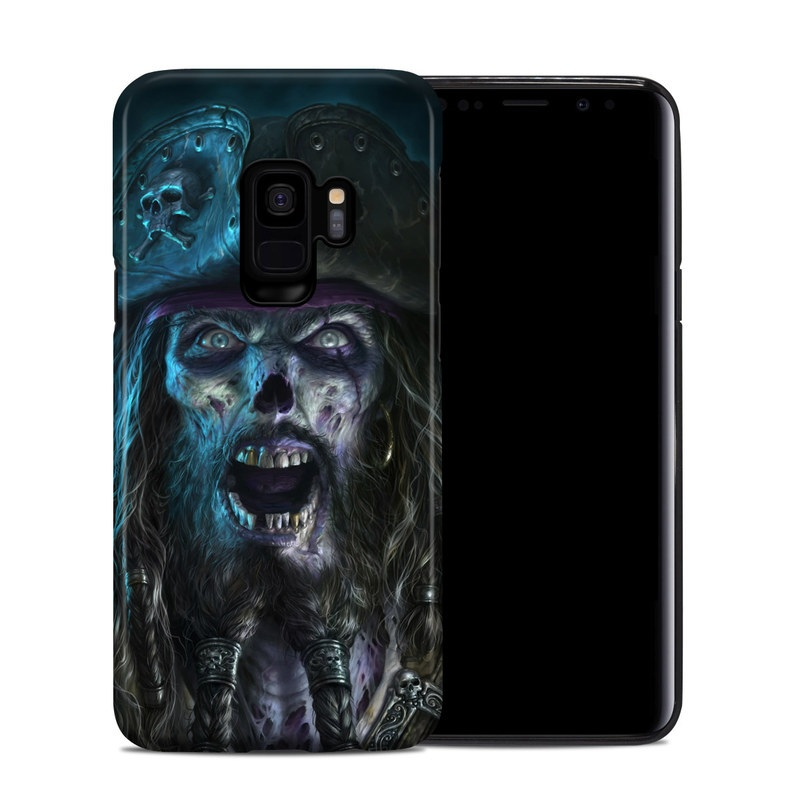 Samsung Galaxy S9 Hybrid Case design of Darkness, Illustration, Art, Ghost, Fictional character, Beard with black, white, blue, gray colors
