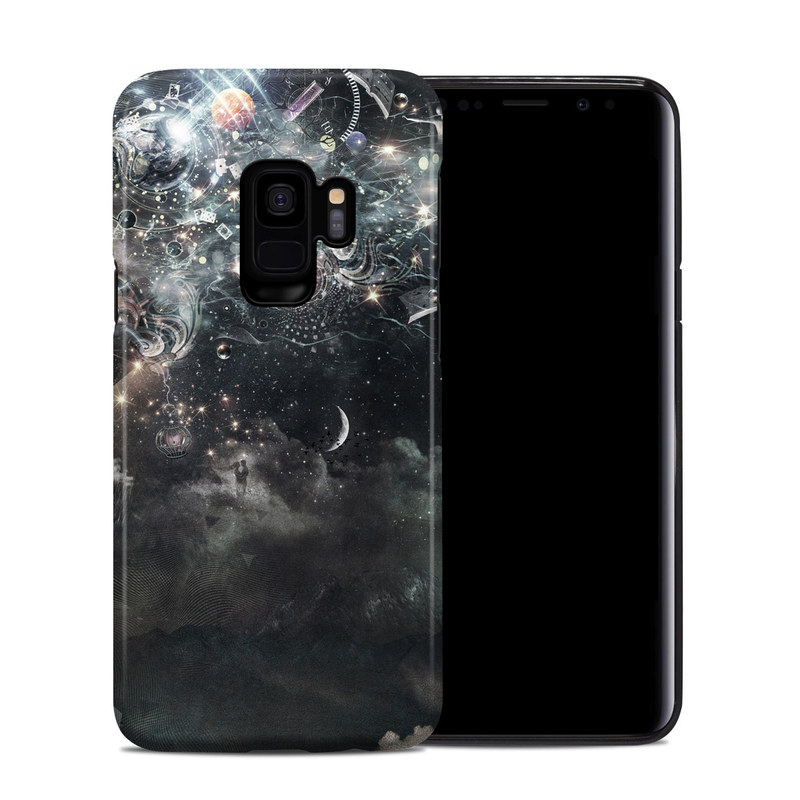 Samsung Galaxy S9 Hybrid Case design of Space, Cg artwork, Art, Sky, Darkness, Illustration, Graphic design, Outer space, Graphics, Animation with white, black, gray, yellow colors