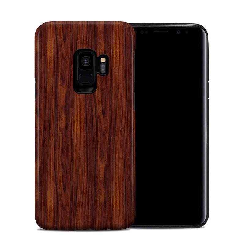 Samsung Galaxy S9 Hybrid Case design of Wood, Red, Brown, Hardwood, Wood flooring, Wood stain, Caramel color, Laminate flooring, Flooring, Varnish with black, red colors