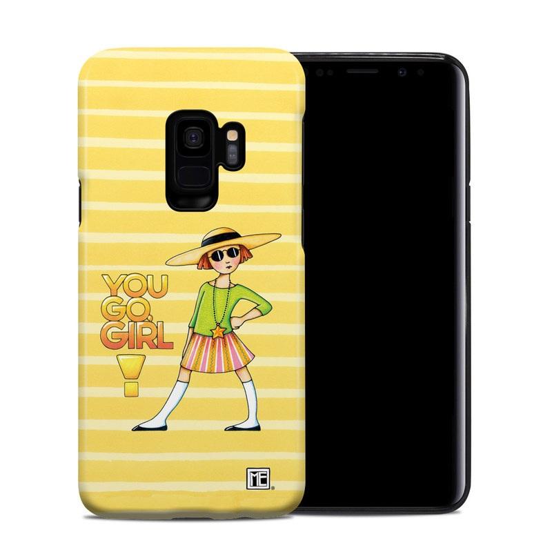 Samsung Galaxy S9 Hybrid Case design of Cartoon, Illustration, Clip art, Art with orange, pink, yellow, green, gray, black colors