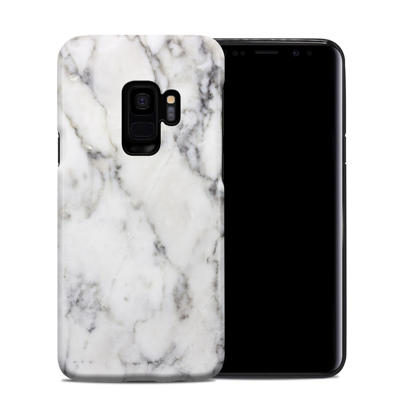 Samsung Galaxy S9 Hybrid Case design of White, Geological phenomenon, Marble, Black-and-white, Freezing with white, black, gray colors