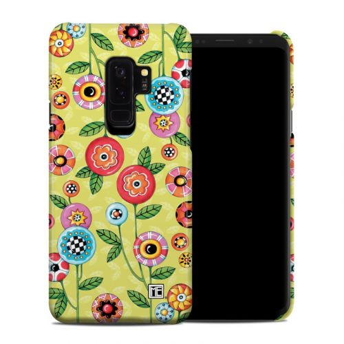 Button Flowers Samsung Galaxy S9 Plus Clip Case