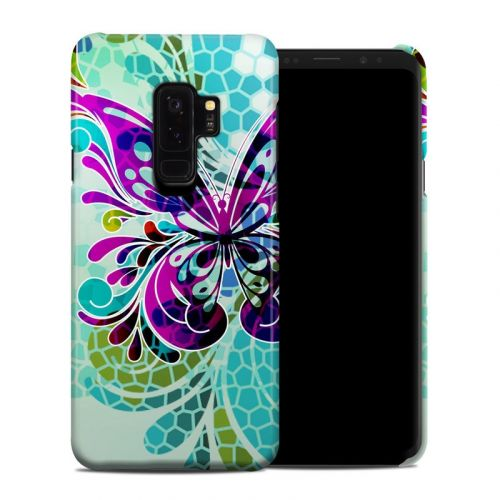 Butterfly Glass Samsung Galaxy S9 Plus Clip Case