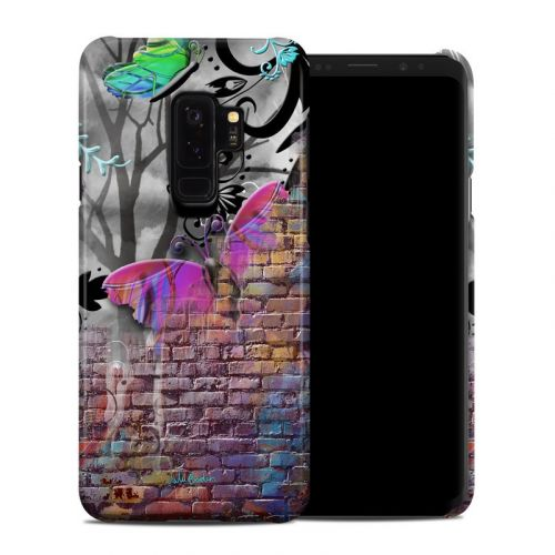 Butterfly Wall Samsung Galaxy S9 Plus Clip Case