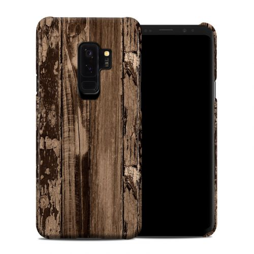 Weathered Wood Samsung Galaxy S9 Plus Clip Case