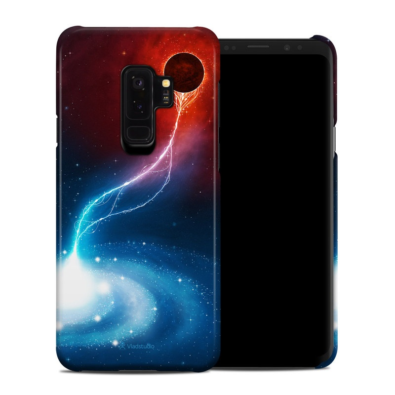 Samsung Galaxy S9 Plus Clip Case design of Outer space, Atmosphere, Astronomical object, Universe, Space, Sky, Planet, Astronomy, Celestial event, Galaxy with blue, red, black colors