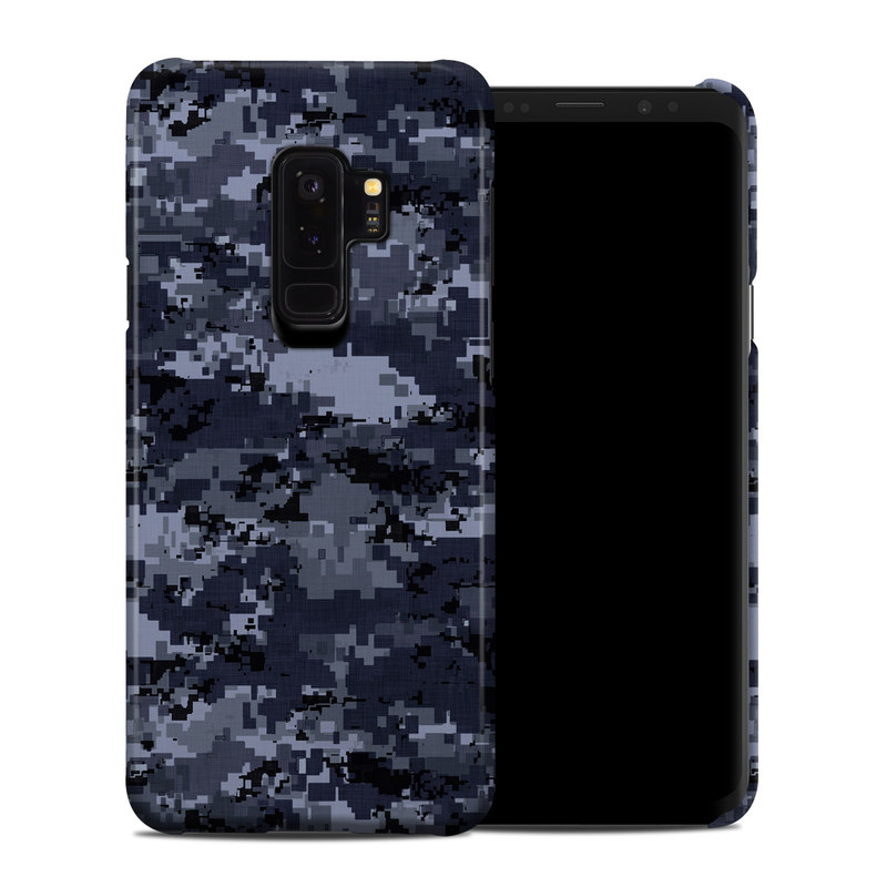 Digital Navy Camo Samsung Galaxy S9 Plus Clip Case