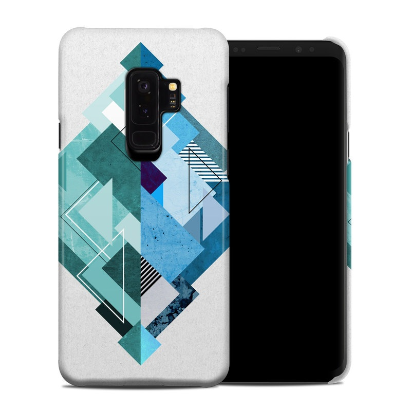 Samsung Galaxy S9 Plus Clip Case design of Blue, Turquoise, Illustration, Graphic design, Design, Line, Logo, Triangle, Graphics with gray, blue, purple colors