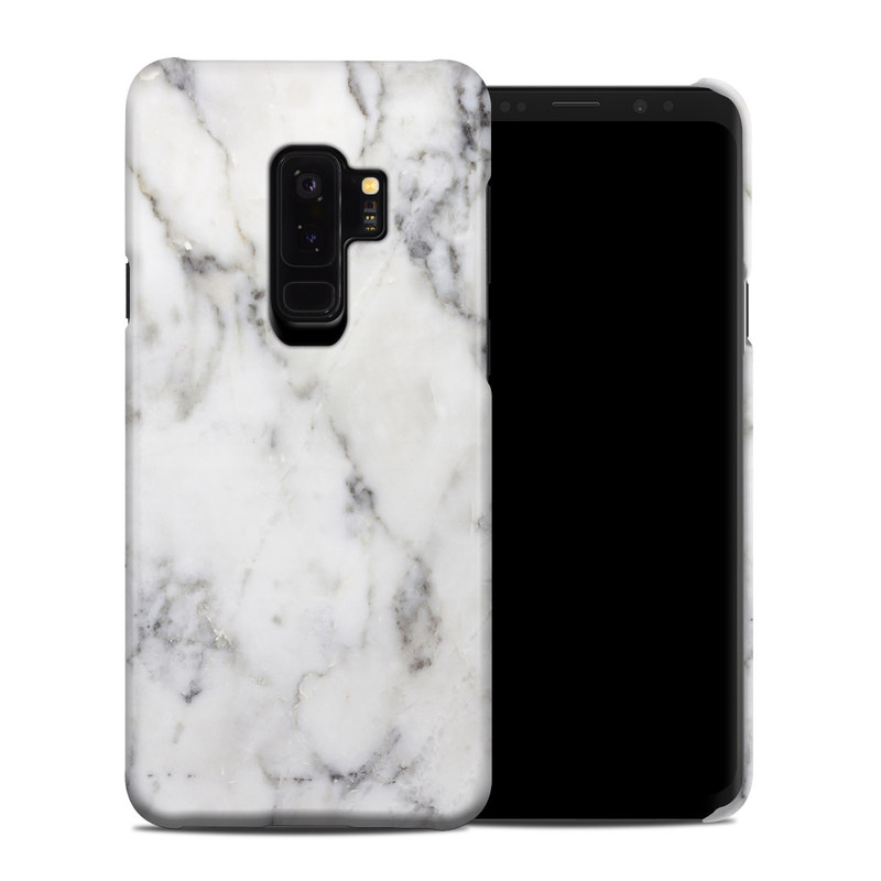 detailed look 593de 311a5 White Marble Samsung Galaxy S9 Plus Clip Case