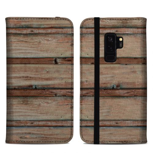 Boardwalk Wood Samsung Galaxy S9 Plus Folio Case