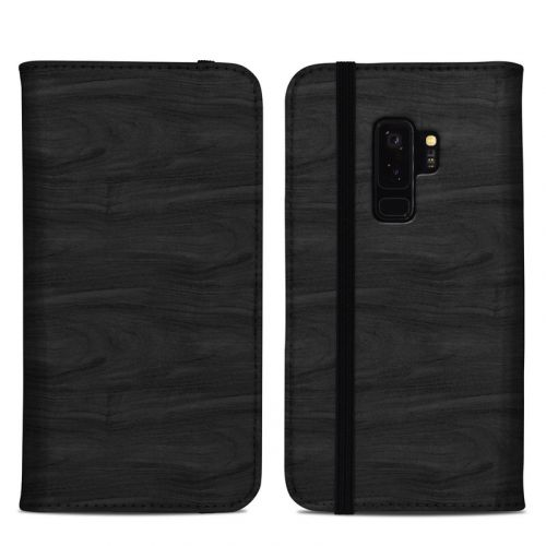 Black Woodgrain Samsung Galaxy S9 Plus Folio Case
