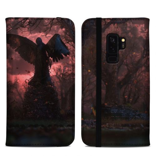 Black Angel Samsung Galaxy S9 Plus Folio Case