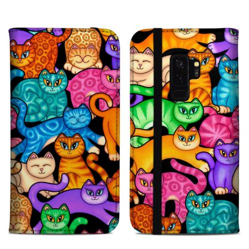 Colorful Kittens Samsung Galaxy S9 Plus Folio Case