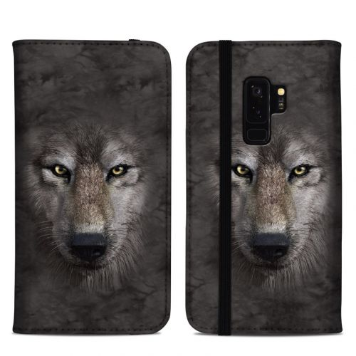 Grey Wolf Samsung Galaxy S9 Plus Folio Case
