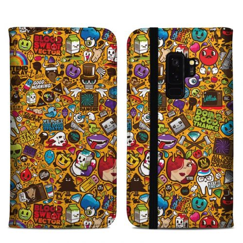 Psychedelic Samsung Galaxy S9 Plus Folio Case