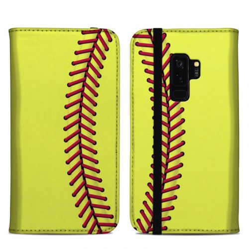 Softball Samsung Galaxy S9 Plus Folio Case
