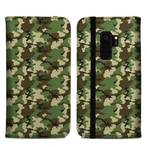 Woodland Camo Samsung Galaxy S9 Plus Folio Case