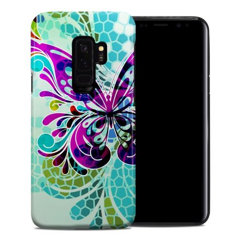 Butterfly Glass Samsung Galaxy S9 Plus Hybrid Case