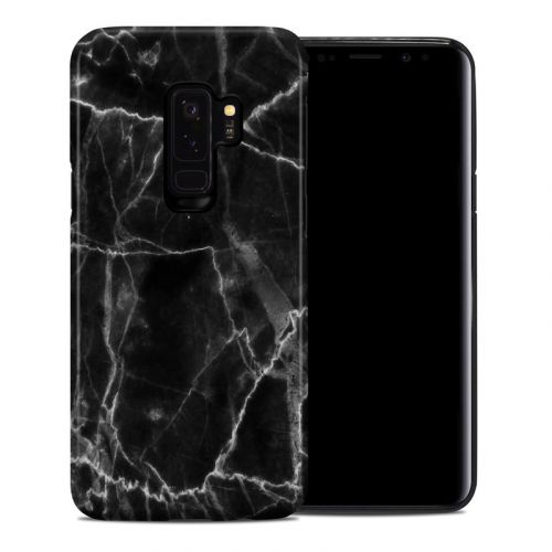 Black Marble Samsung Galaxy S9 Plus Hybrid Case