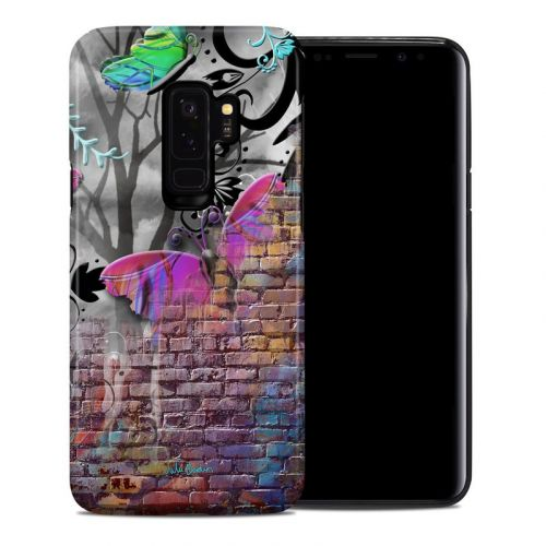Butterfly Wall Samsung Galaxy S9 Plus Hybrid Case