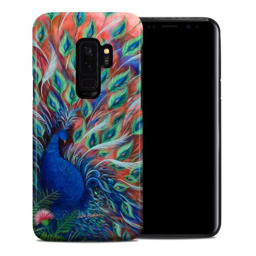 Coral Peacock Samsung Galaxy S9 Plus Hybrid Case