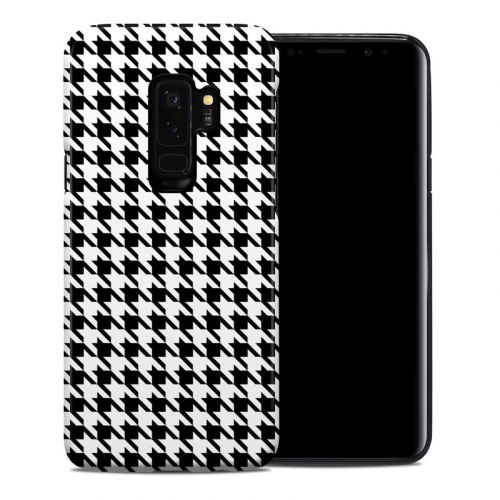 Houndstooth Samsung Galaxy S9 Plus Hybrid Case
