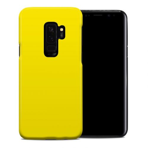 Solid State Yellow Samsung Galaxy S9 Plus Hybrid Case