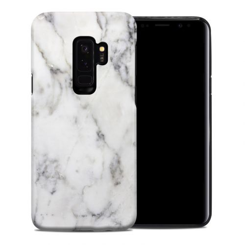 White Marble Samsung Galaxy S9 Plus Hybrid Case