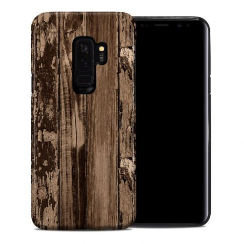 Weathered Wood Samsung Galaxy S9 Plus Hybrid Case