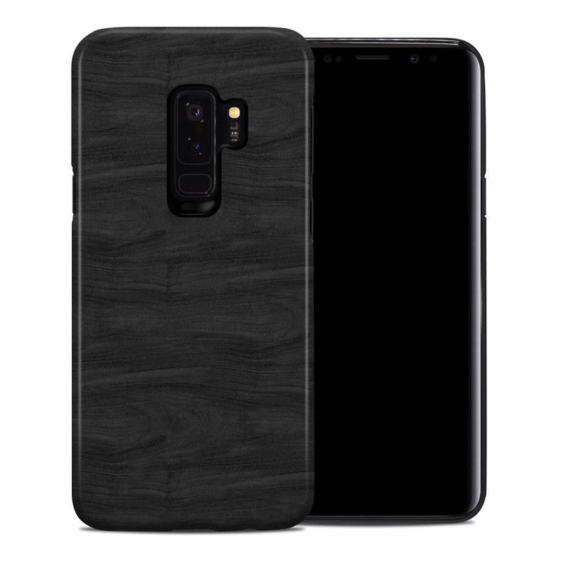 Samsung Galaxy S9 Plus Hybrid Case design of Black, Brown, Wood, Grey, Flooring, Floor, Laminate flooring, Wood flooring with black colors