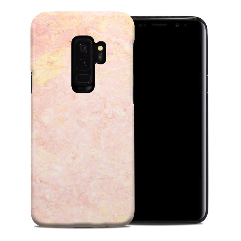 pretty nice 918b5 9a6c4 Rose Gold Marble Samsung Galaxy S9 Plus Hybrid Case