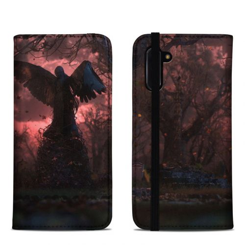 Black Angel Samsung Galaxy Note 10 Folio Case