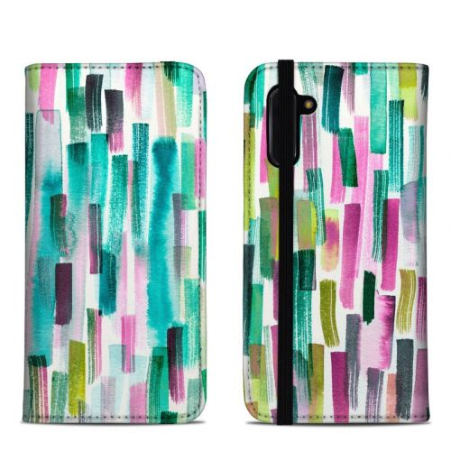 Colorful Brushstrokes Samsung Galaxy Note 10 Folio Case