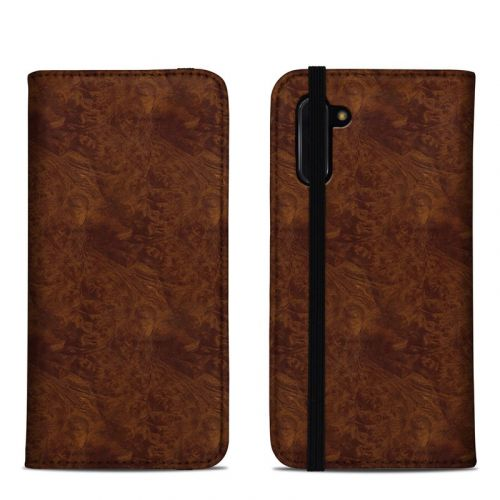 Dark Burlwood Samsung Galaxy Note 10 Folio Case