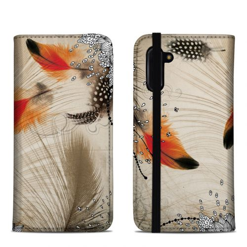 Feather Dance Samsung Galaxy Note 10 Folio Case