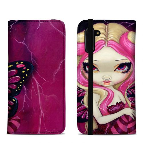 Pink Lightning Samsung Galaxy Note 10 Folio Case