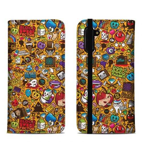 Psychedelic Samsung Galaxy Note 10 Folio Case