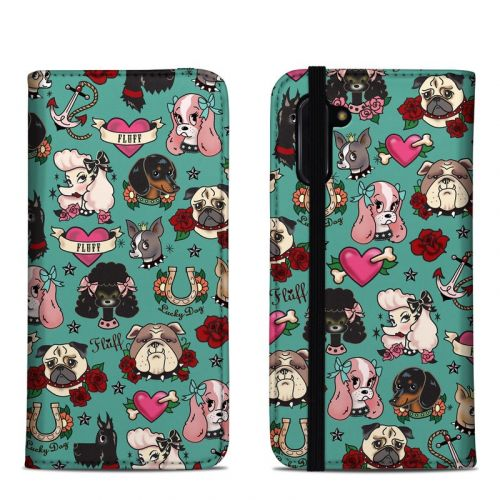 Tattoo Dogs Samsung Galaxy Note 10 Folio Case