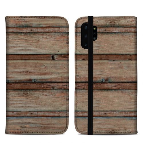 Boardwalk Wood Samsung Galaxy Note 10 Plus Folio Case