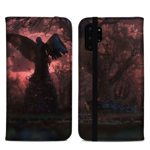 Black Angel Samsung Galaxy Note 10 Plus Folio Case